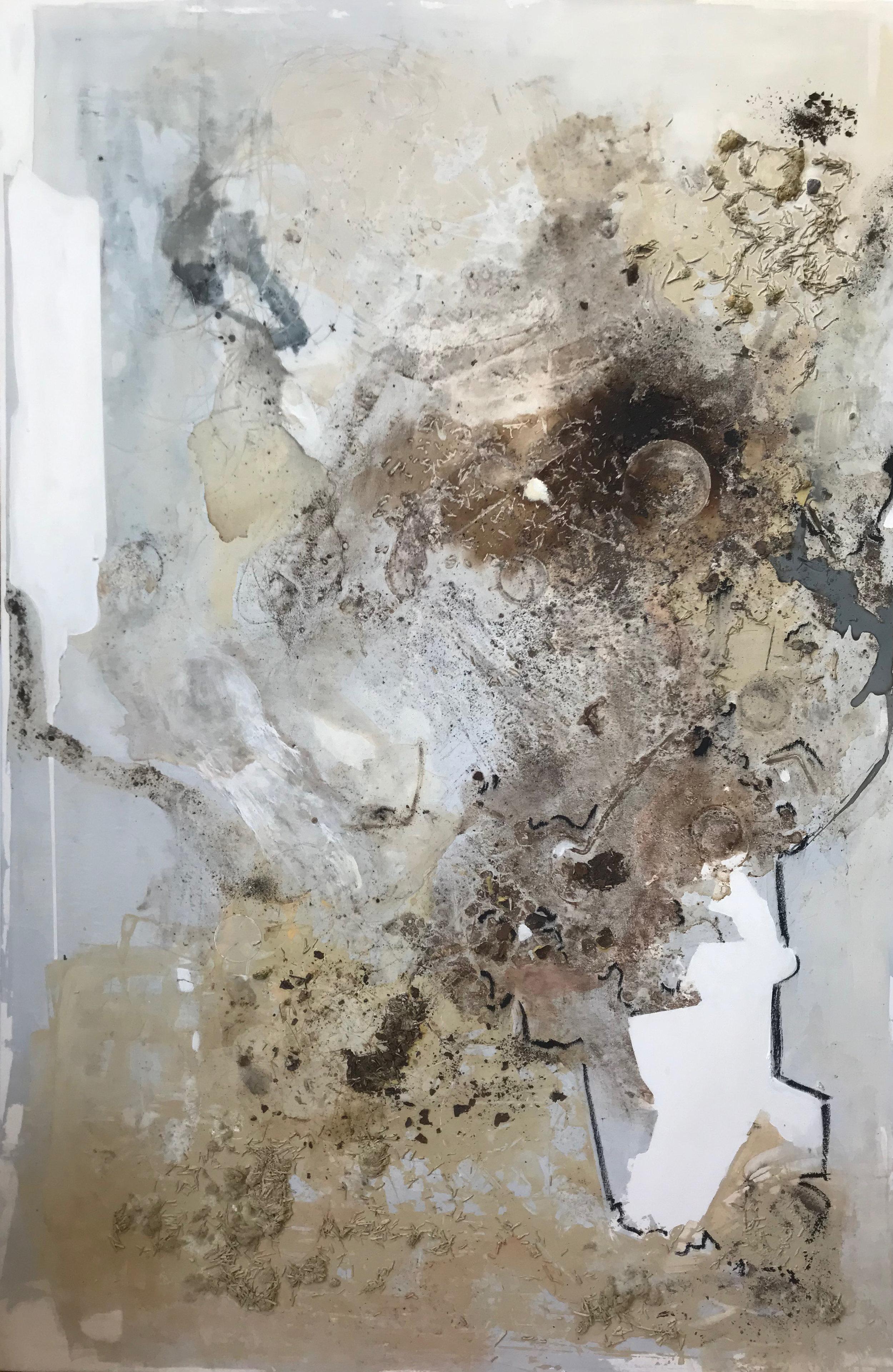 Küf #1 , 2019 mixed media on canvas 72 x 50 inches