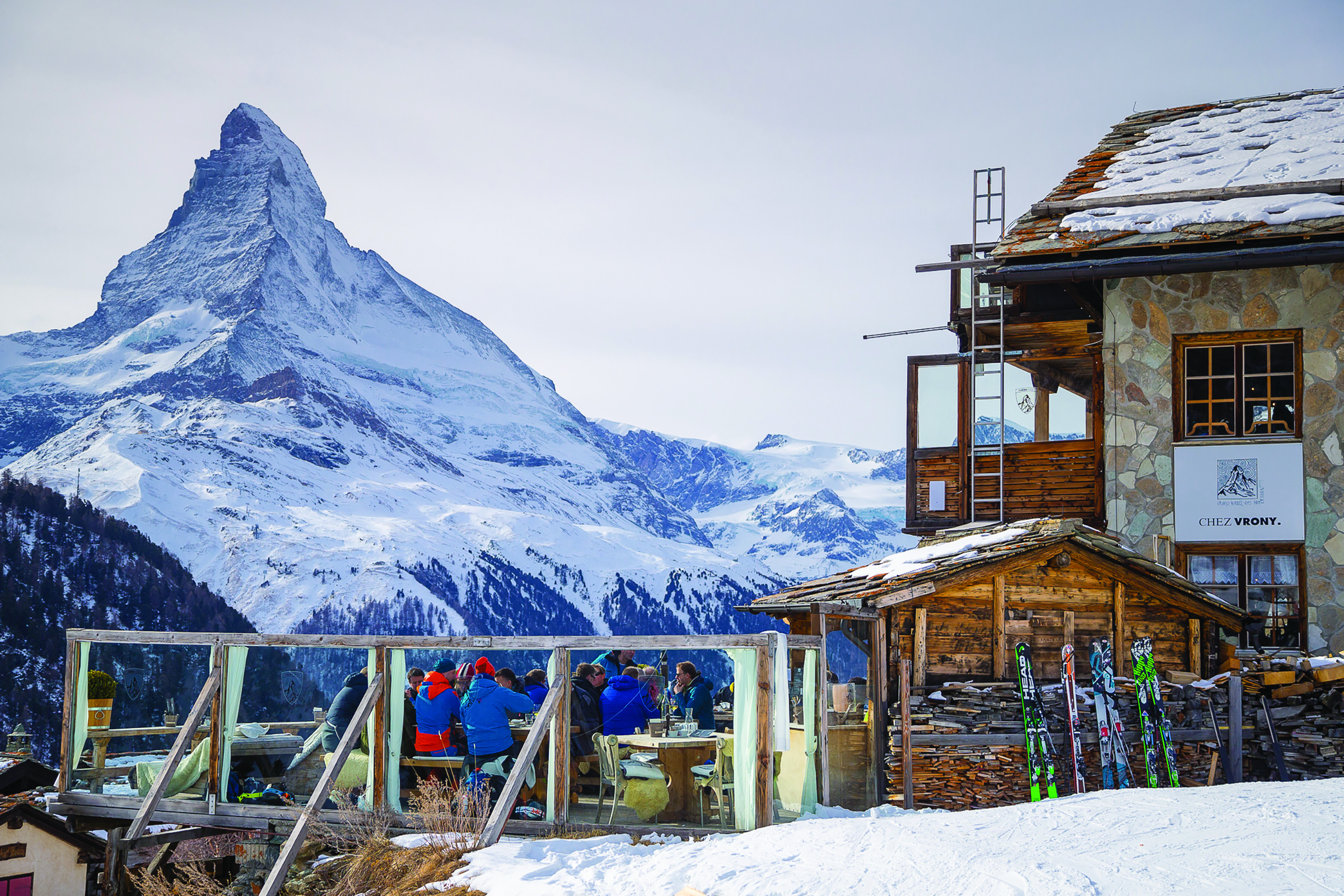 MAJESTIC MATTERHORN - Former World Cup skier experiences the posh life in Zermatt, Switzerland, under the shadow of the 'Toblerone Mountain'By Larisa Yurkiw. Photography by Paul Morrison.