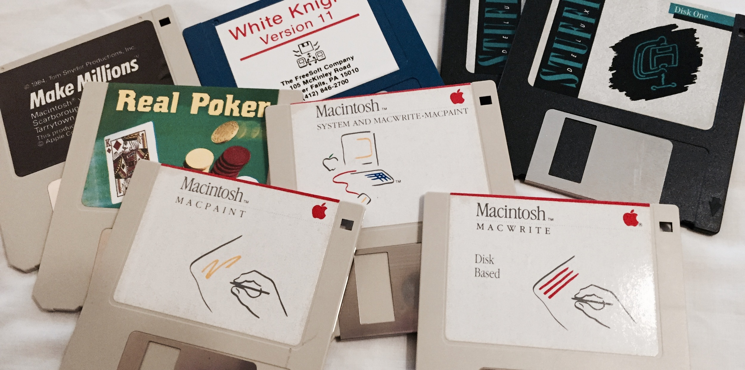 My original Mac discs. Recently rediscovered.