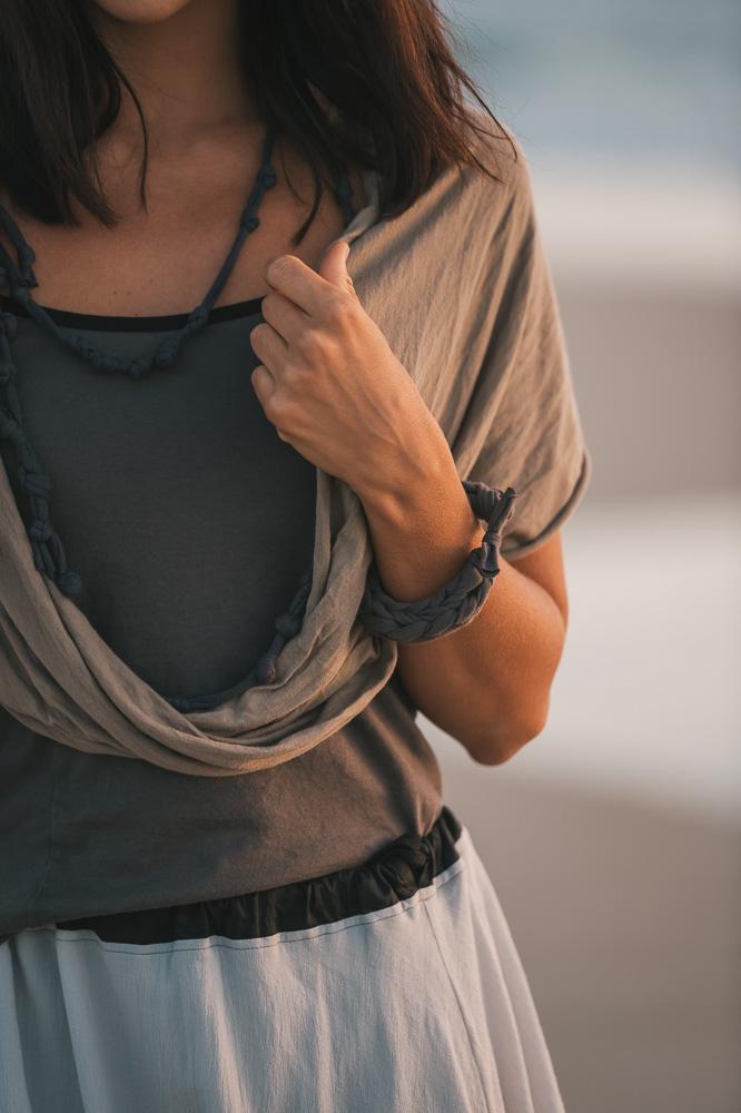 Nasturtium top, Willow skirt & Loopy scarf