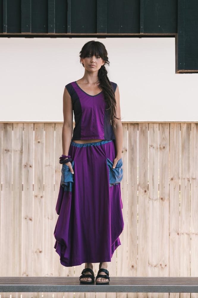 Periwinkle tank & Winona skirt