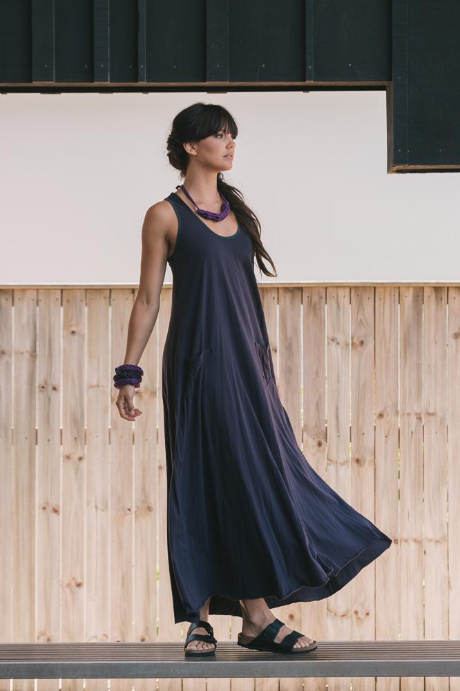 Dita maxi dress in grape