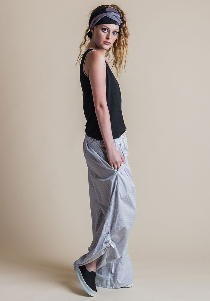 Ada pants silver check with black Perla tank