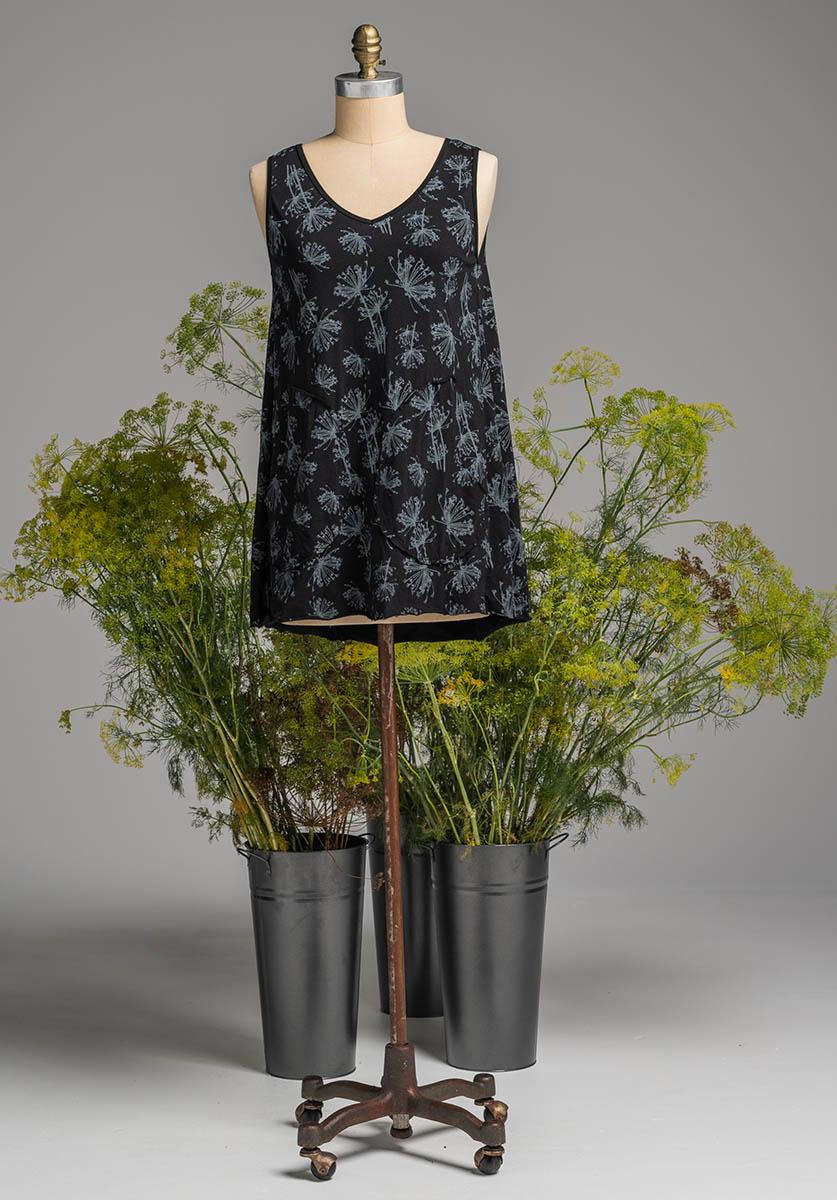 Rose tunic black dill