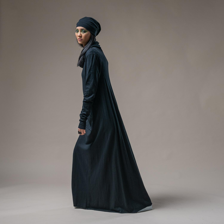 Almeda top, Slouch beanie + Blythe Maxi dress