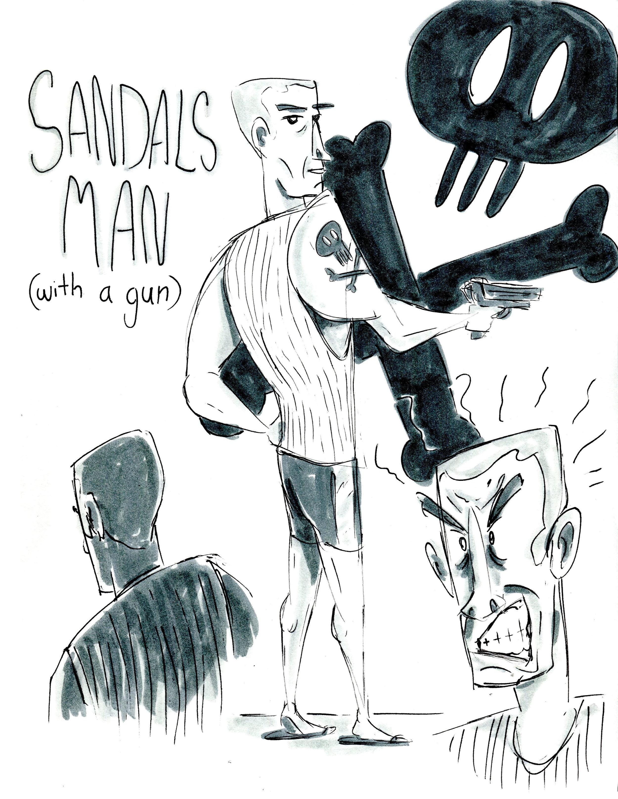 sandals man with a gun.jpg