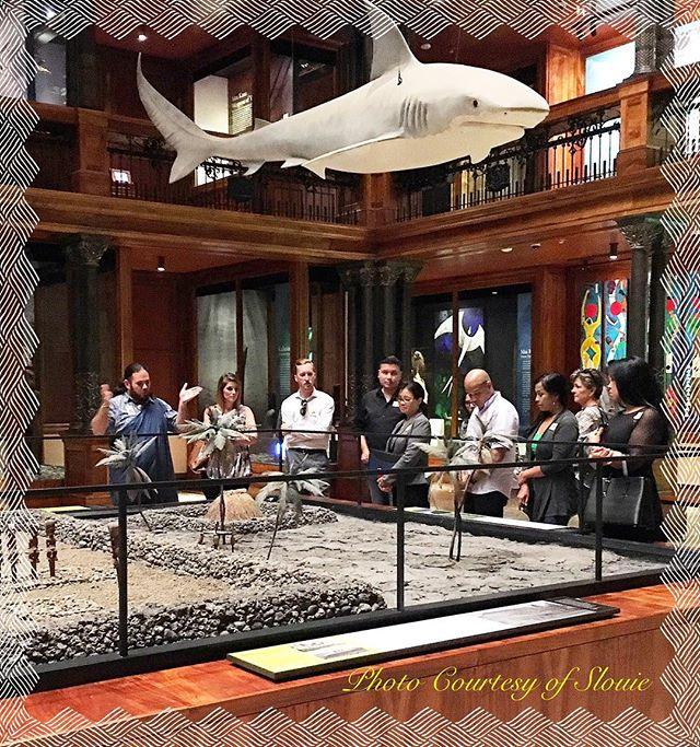"It's ""ALOHA FRIDAY!"" Big mahalo to Dean, and Kapaliku for the wonderful hospitality, and tour @bishopmuseum .  #CAH #luckywelivehawaii #concierge #conciergelife #livingaloha #bishopmuseumhawaii"