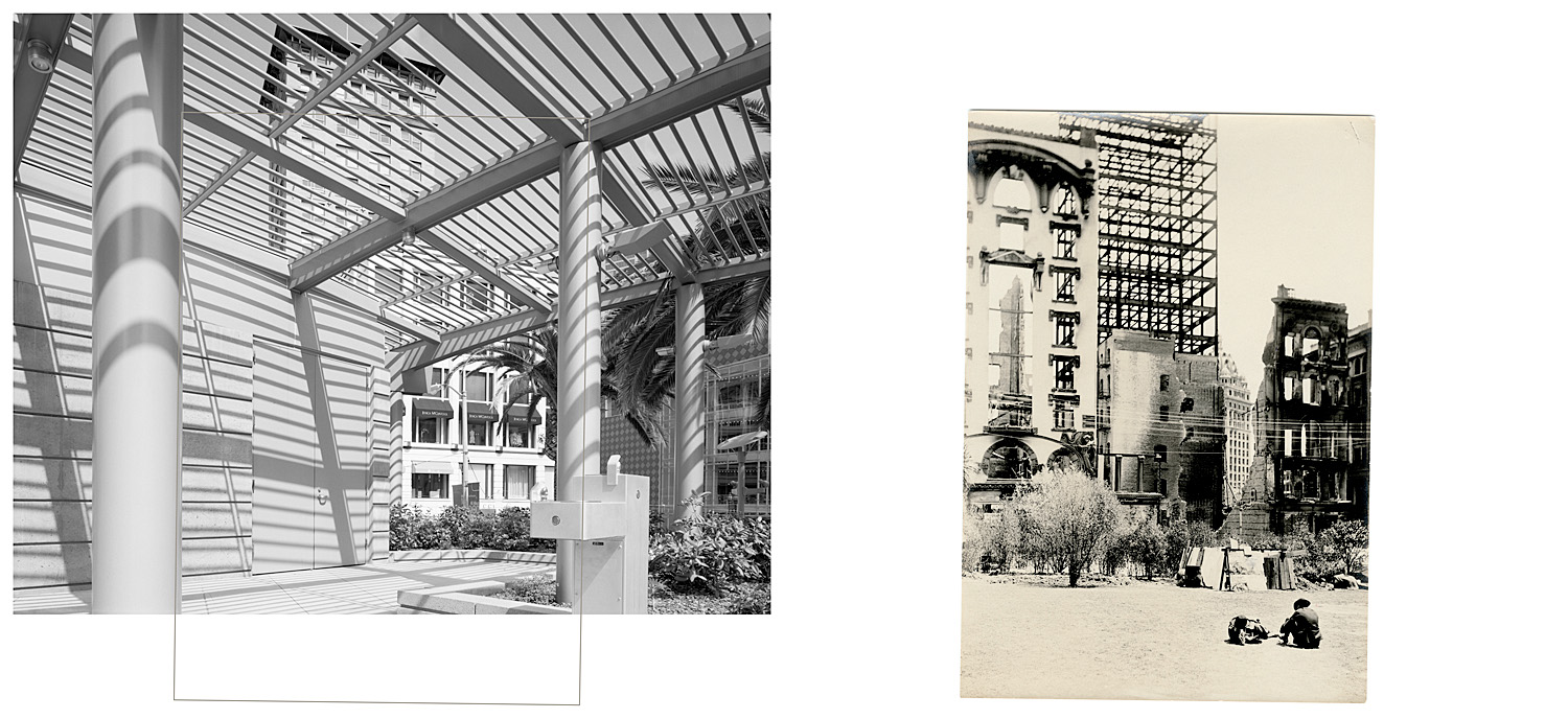 LEFT: Drinking fountain at the east end of Union Square, 2004   RIGHT: Untitled, 1906