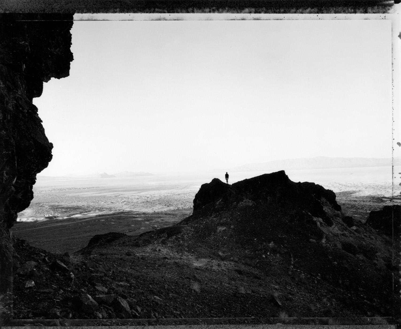 Man facing south, sunrise at Black Rock, 2000