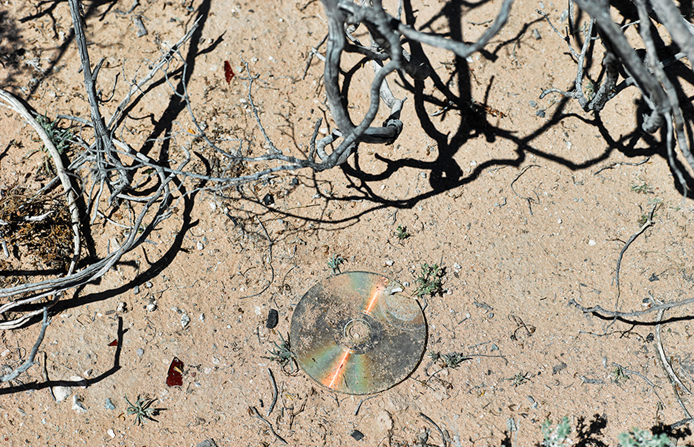 Music CD discarded by traveler, Cabeza Prieta, 2013