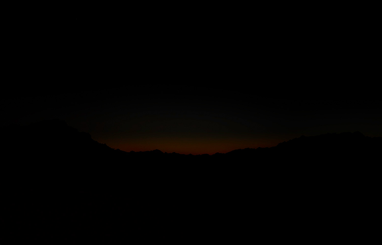 Last glow of daylight, Gila Mountains, 2013