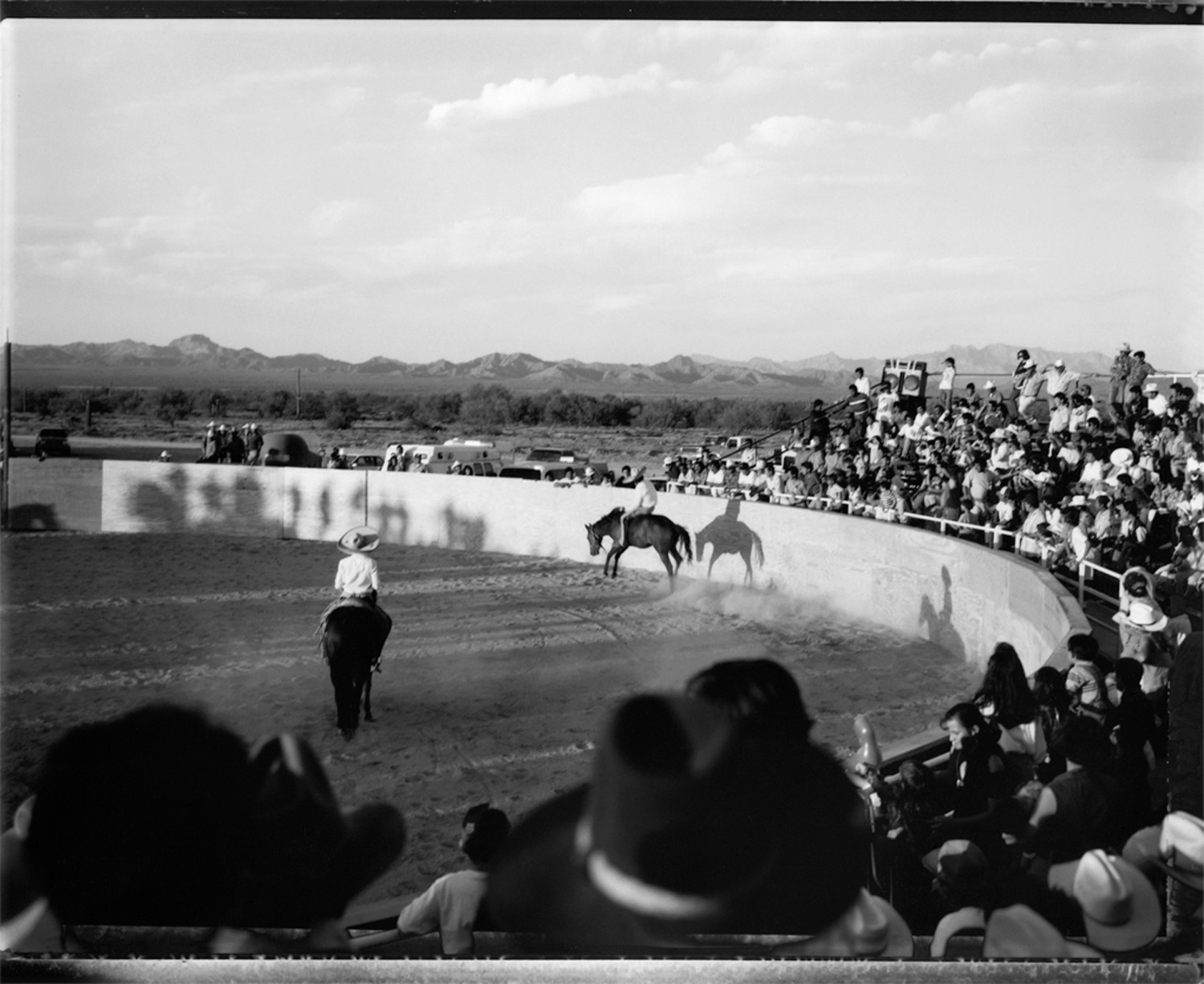 Bronc rider, Mexican rodeo, 1993