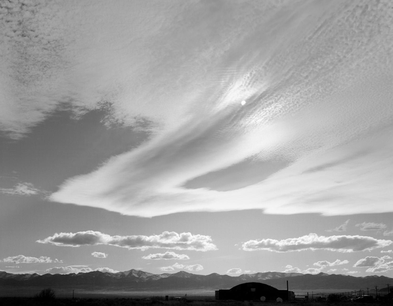 Sun above Wendover Airbase