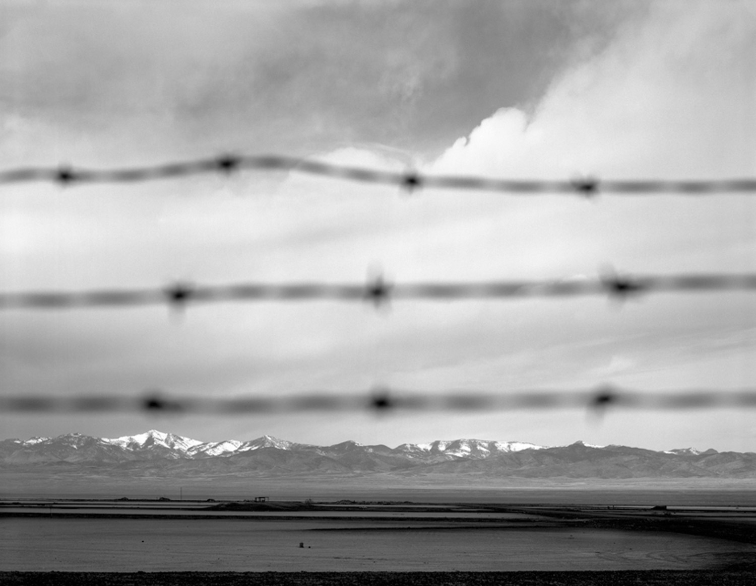 Goshute Mountains from the perimeter of South Base, Wendover