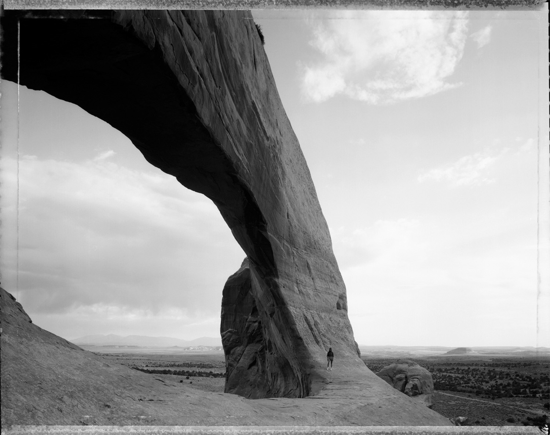 Beneath the Great Arch, near Monticello, Utah, 1982