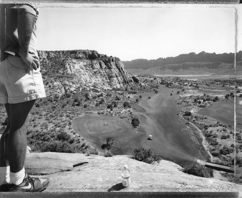 Playing desert golf, Moab, Utah, 1989