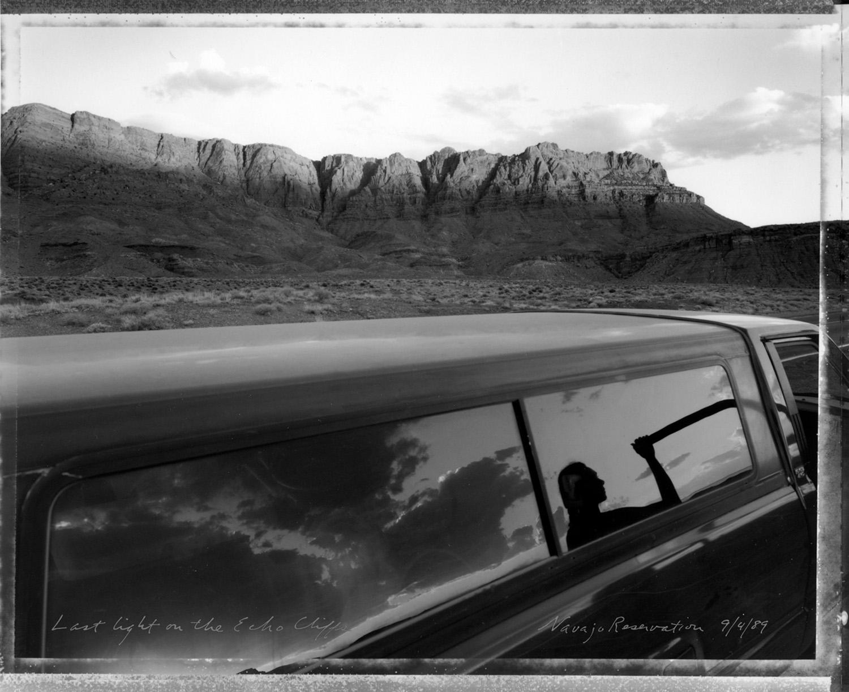 Last light on the Echo Cliffs, Navajo Reservation, 1989