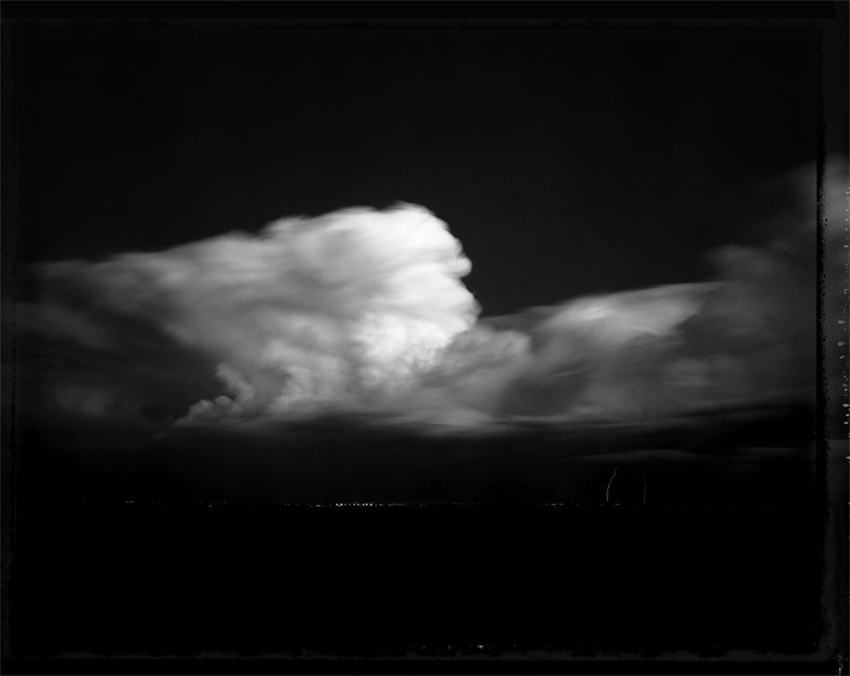 Night storm over Glendale, 1993