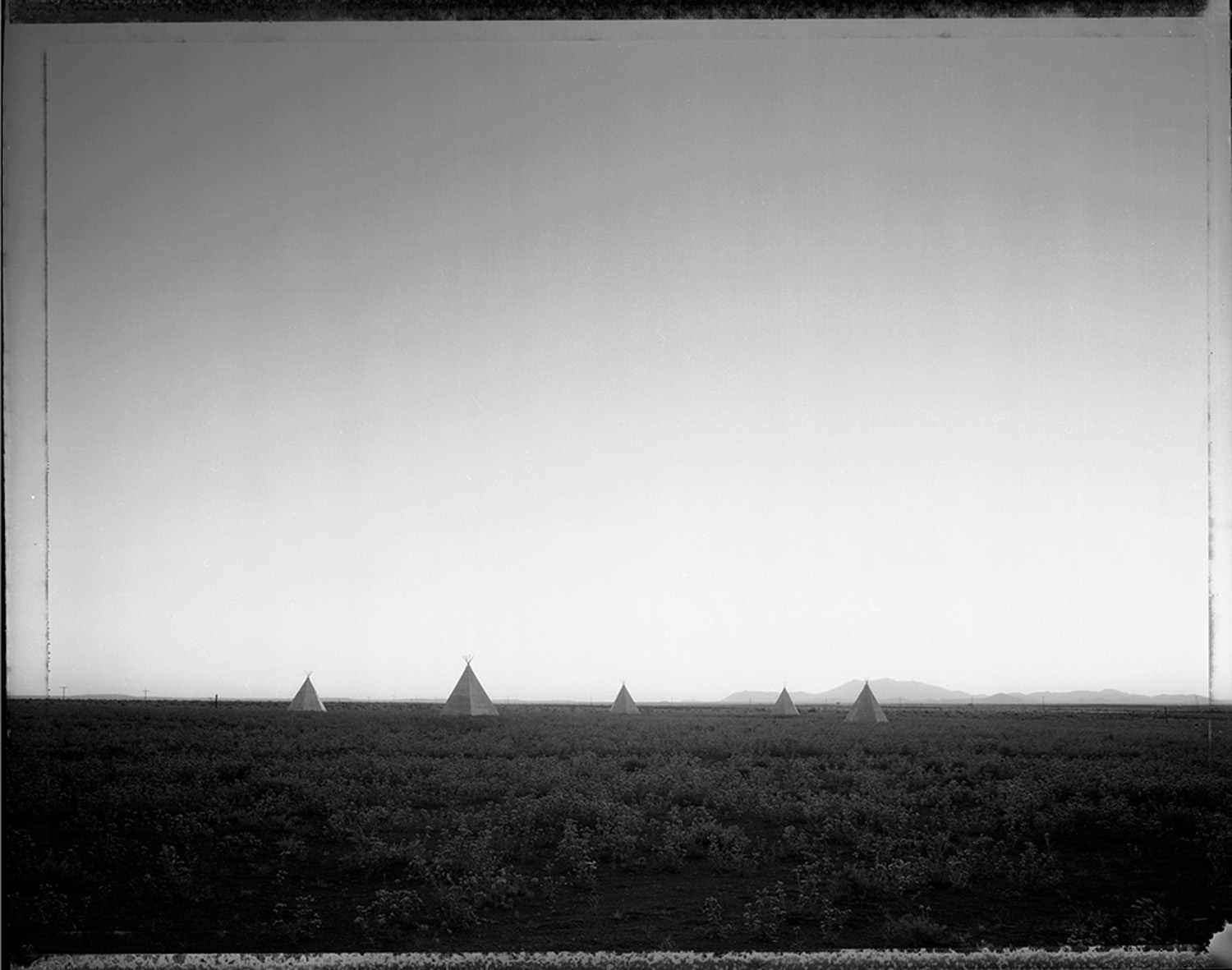 Plywood Tee-Pees, Meteor Crater, AZ, 1982
