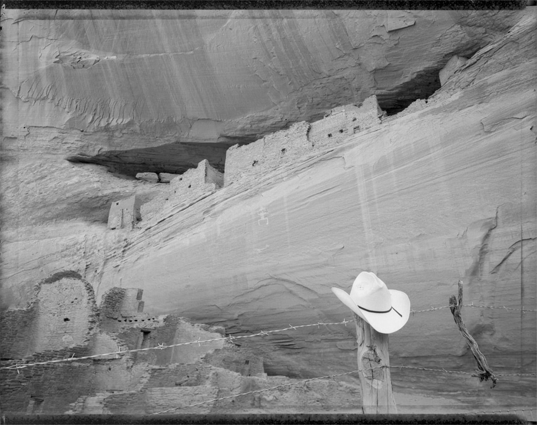 Sears hat at White House ruins, Canyon de Chelly, Arizona, 1987