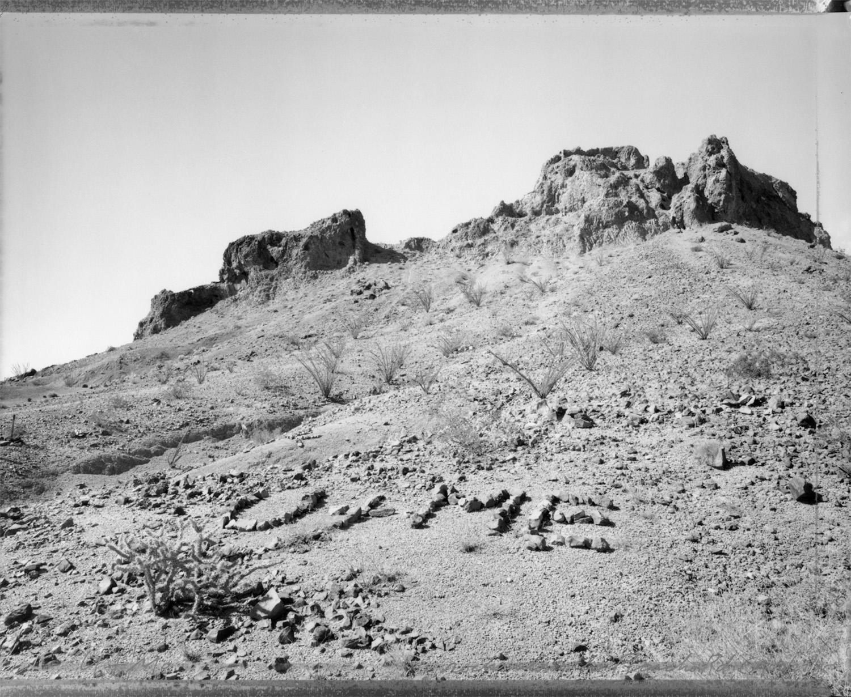 """U + Me,"" rocks along the Picacho Road, California, 1985"
