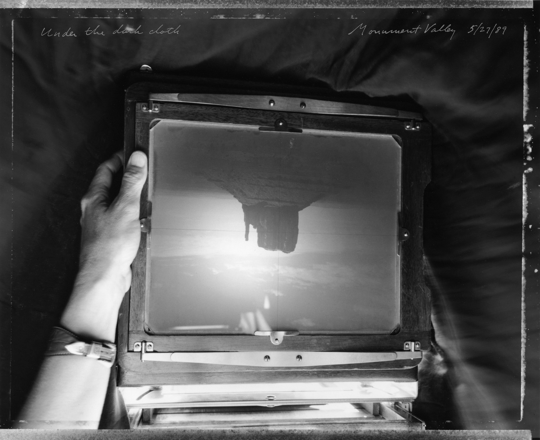 Under the dark cloth, Monument Valley, 1989
