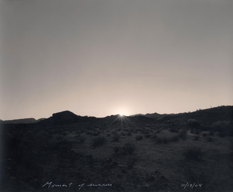 Moment of sunrise, 2004
