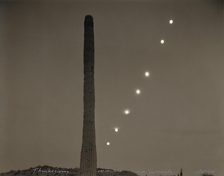 Thanksgiving moonrise ~ 10' intervals, 2004