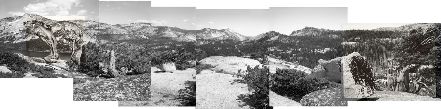 Above Lake Tenaya, connecting two 1940 views by Edward Weston