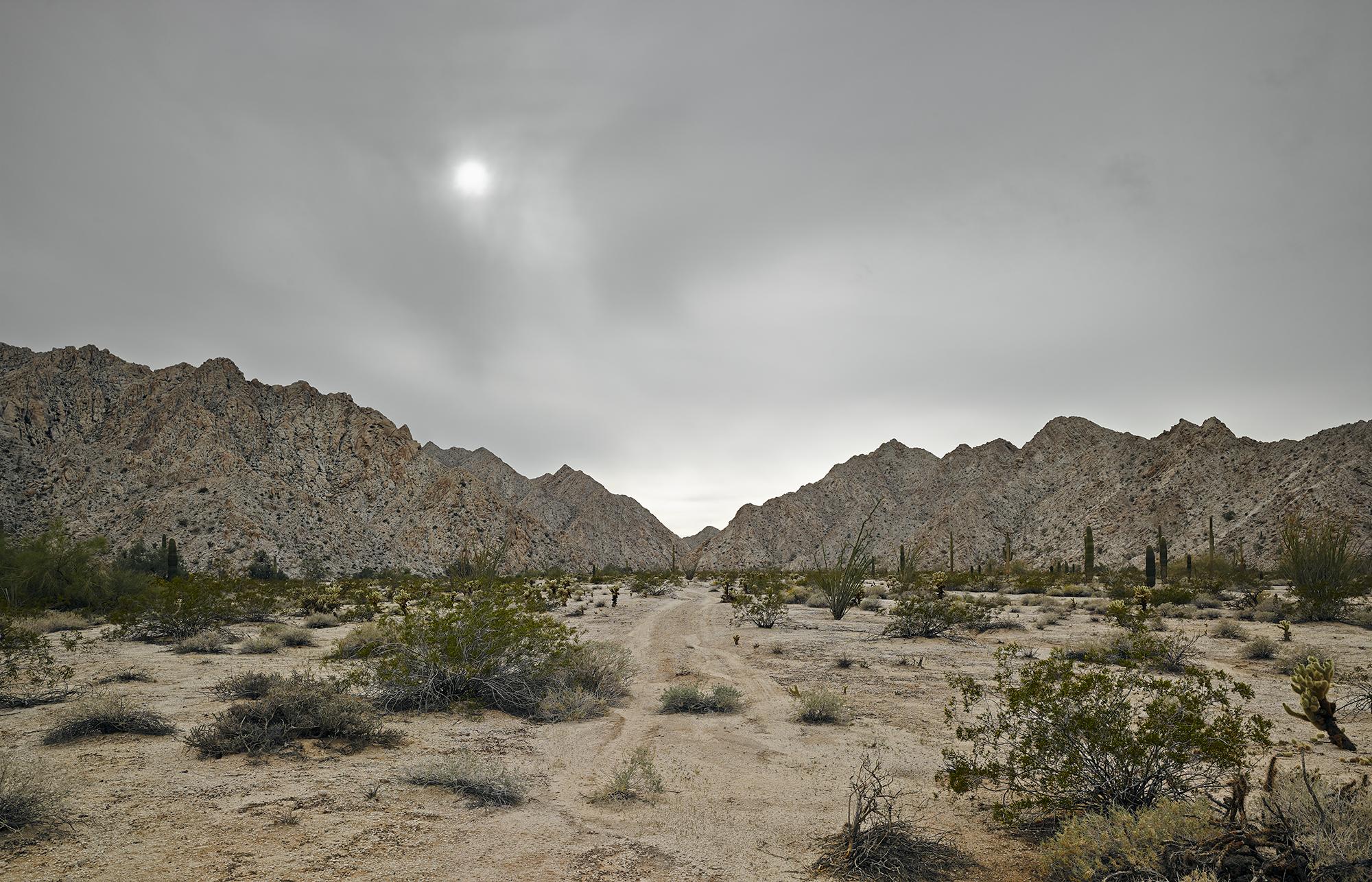 Faint trail, granitic mountains near Raven Butte, 2013