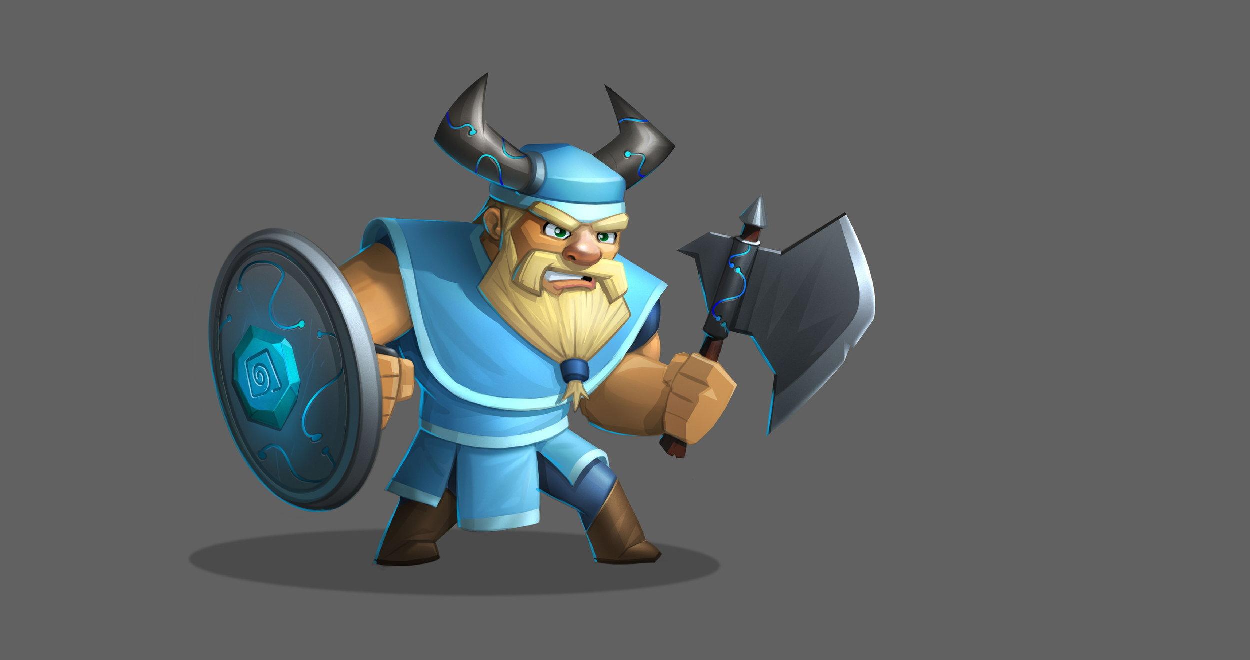 Boris the Warrior - Valiant & Vigorous. When not rigorously training in the art of axe wielding, Boris likes to bake and knit.