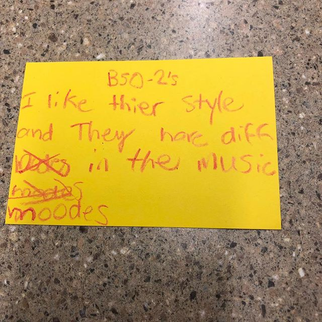 I love the spelling of B52s and moods. #lastweekatgirlsrockcamp #werock #girlsrockcamp @theb52sband @thekatepierson @cindywilsonmusic