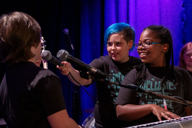 Music Magic: Scenes From This Year's We Rock Camp   By  Whitley Carpenter