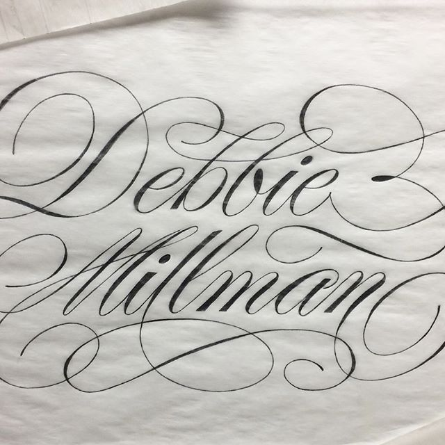 When @ligaturecollective announced their #womenofletters prompt inquiring for names of the women who inspire us daily, the first person (male or female) that came to mind was the truly inspiring @debbiemillman.  This one piece of lettering is absolutely not enough of a proper thank you for all of the ways Debbie's words and interviews have motivated, inspired, educated, and simply kept me going throughout the years.  Also, thank you for using your platform to shed light on the creative lives of those who typically don't get enough exposure. Hearing stories from the marginalized voices in the design/creative fields is so important for change and growth. Specifically women color, creatives in the LGBTQ community, women creatives in the LGBTQ community! If I could verbally express the happiness and acceptance I felt while listening to your Alison Bechdel interview, I would have told you already. 😊 Regardless THANK YOU for continuously doing everything you do wholeheartedly.