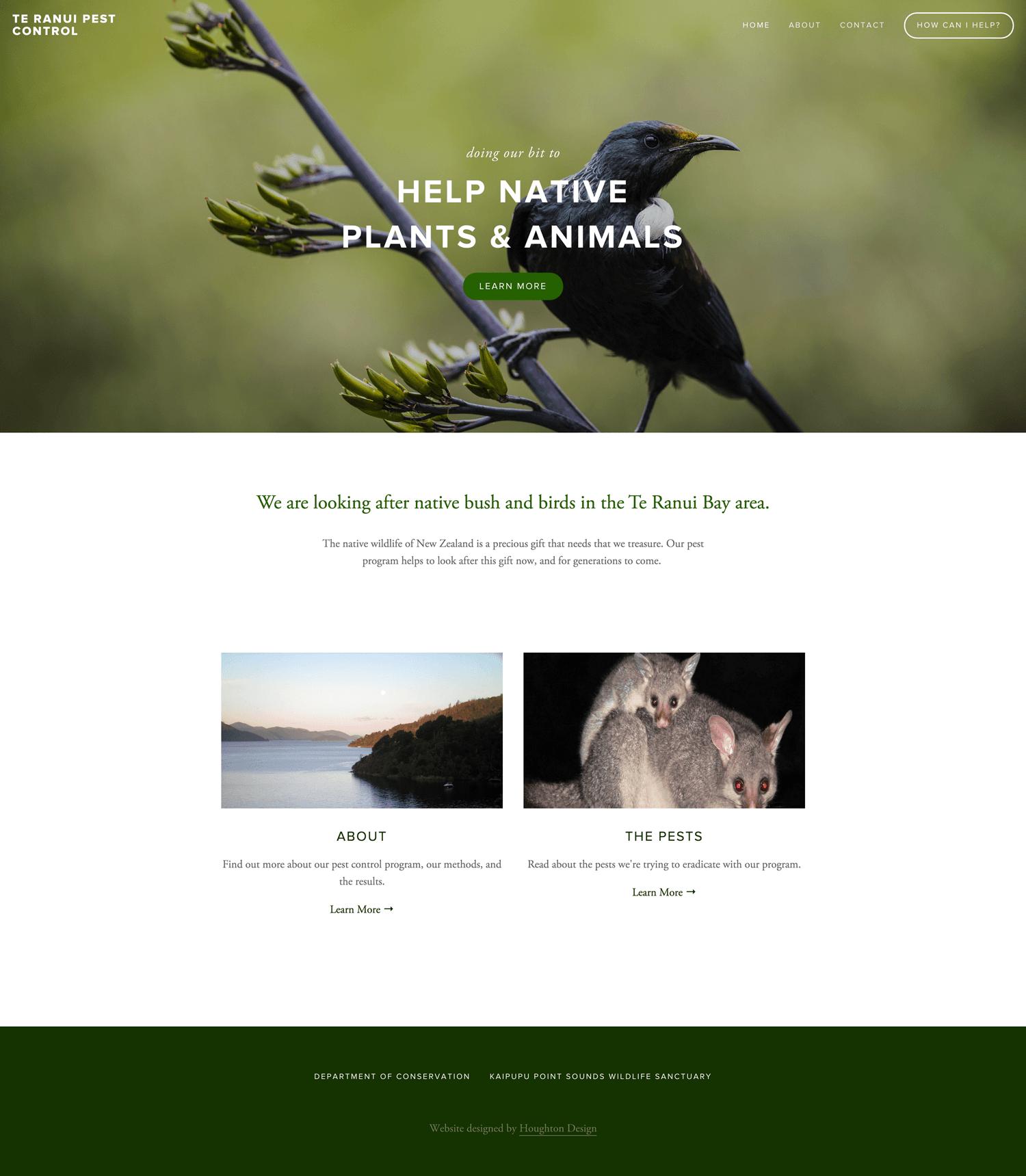 Te Ranui Pest Control - Home page