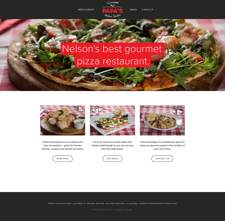 Squarespace website for Papas Italian Kitchen - www.papaskitchen.co.nz