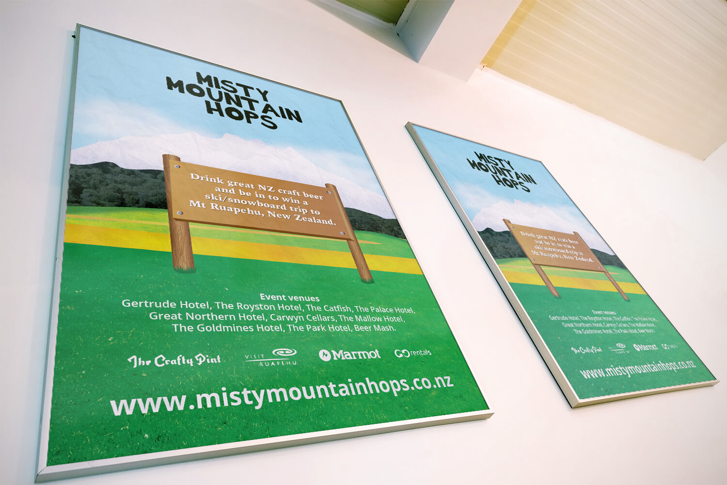 Event poster for Misty Mountain Hops