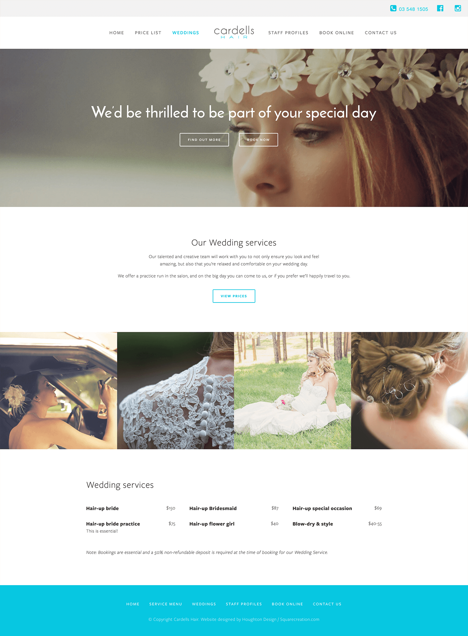 Cardells Hair - Wedding page