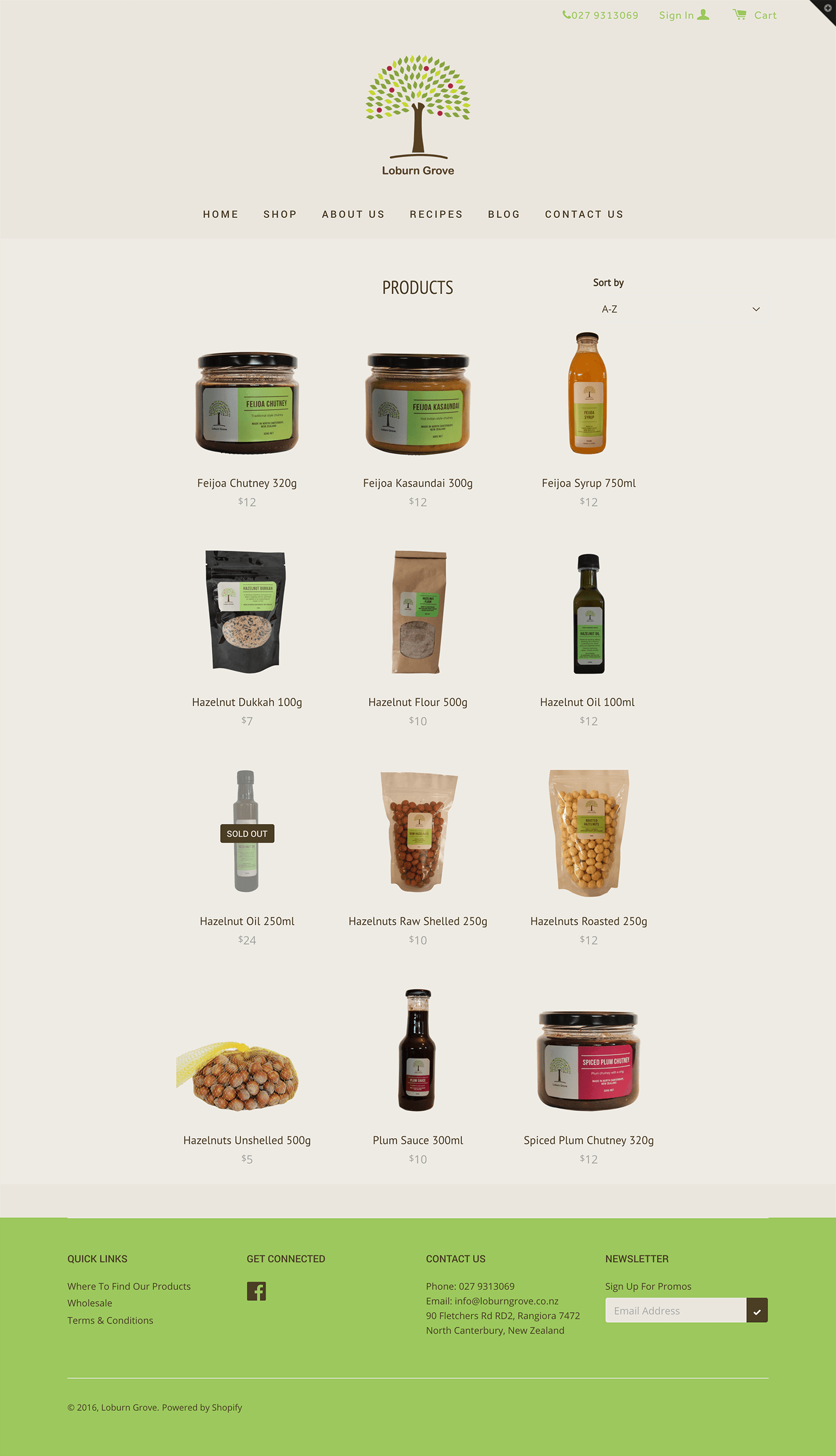 Loburn Grove Orchard - Products page