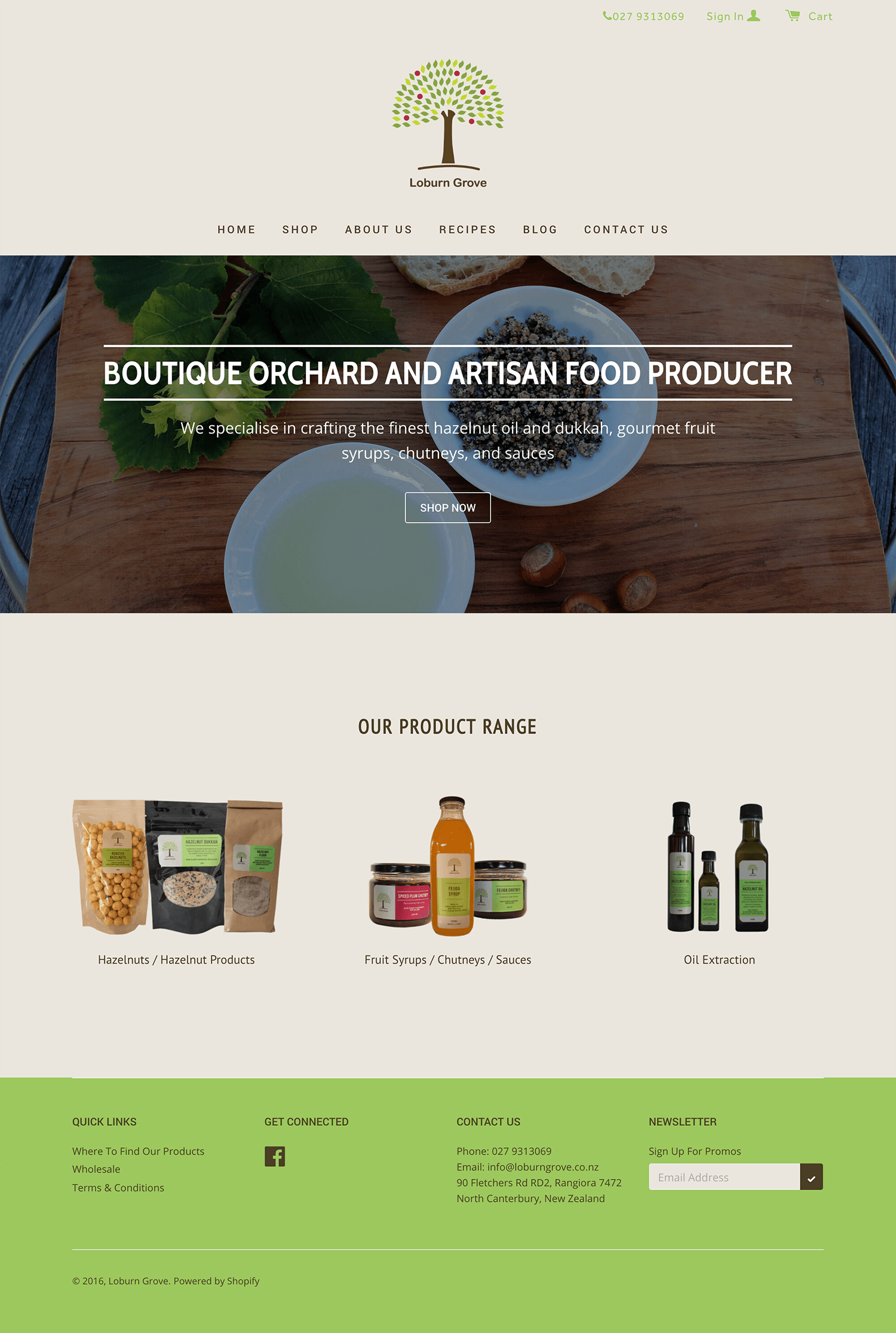 Loburn Grove Orchard - Home page