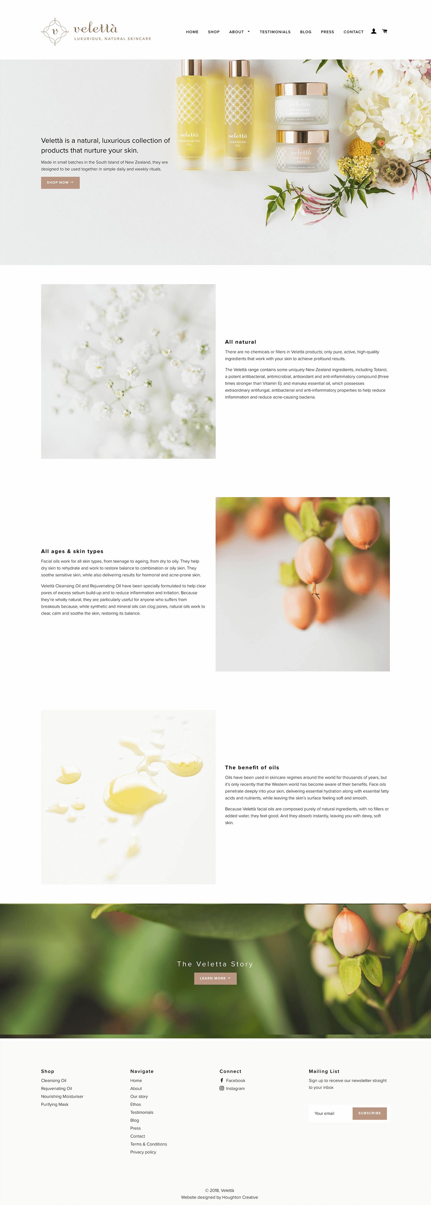 Velettà Skincare about page