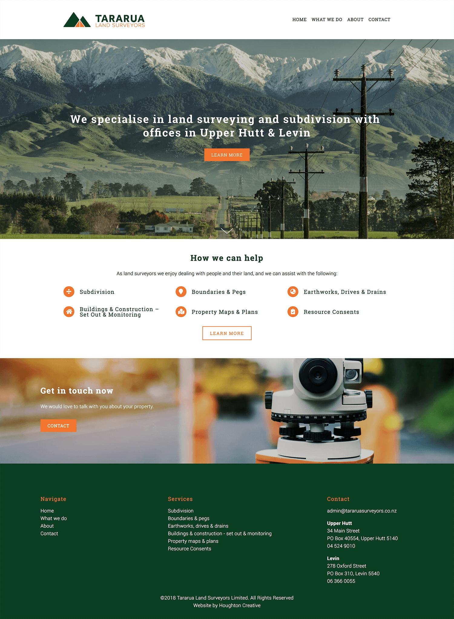 Home page - Tararua Land Surveyors
