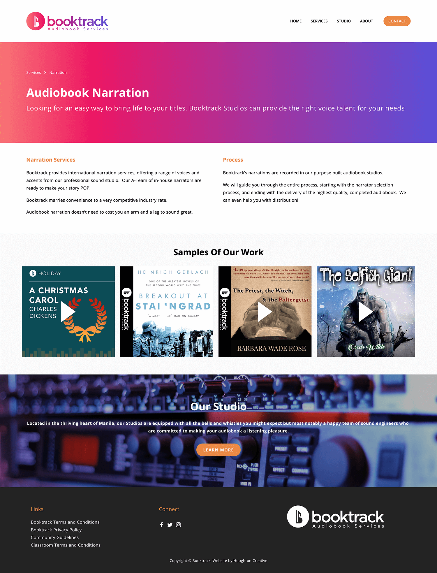 Booktrack Narration page