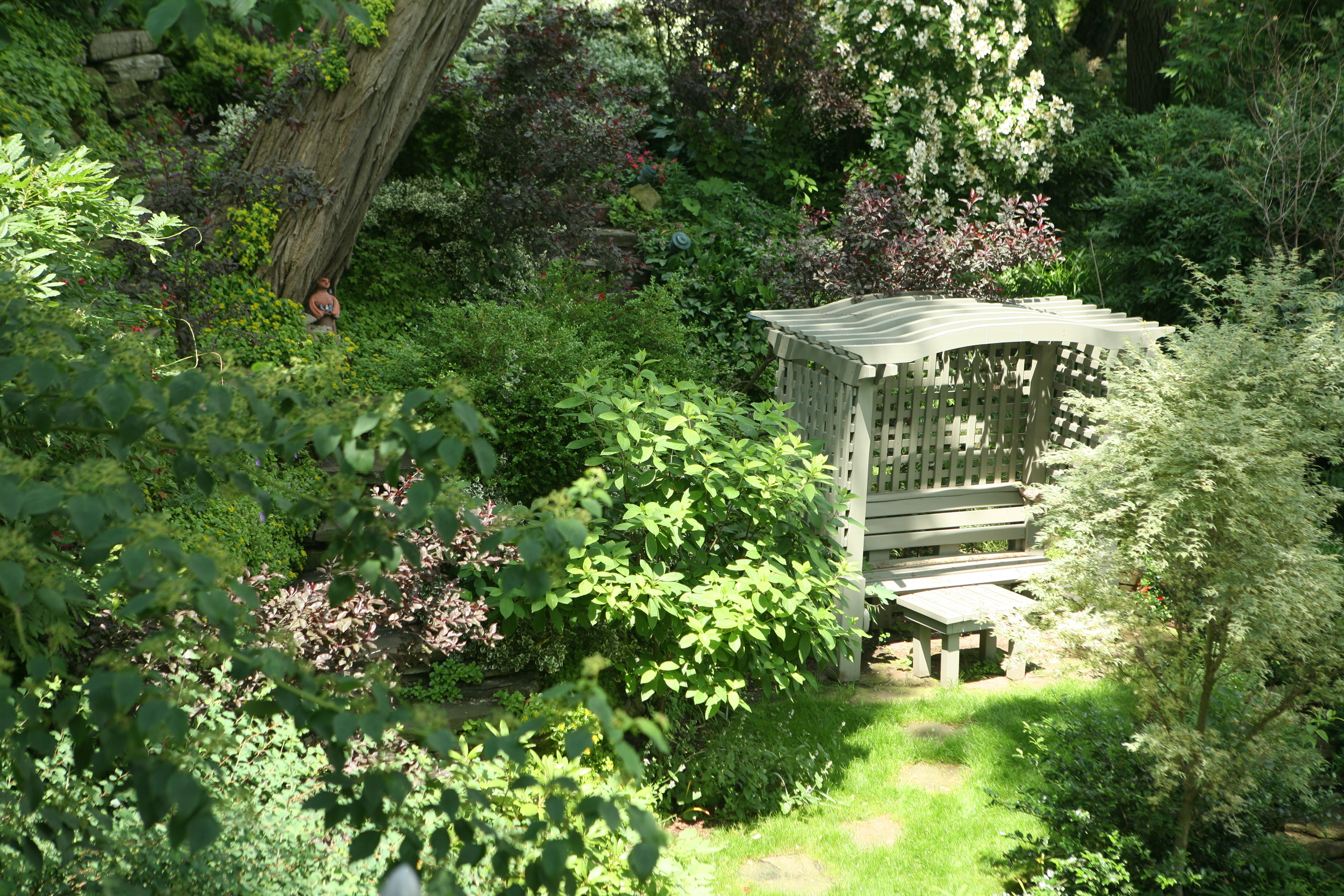 Stairs , Paths , furniture , Plantings & maintenance   10 years along