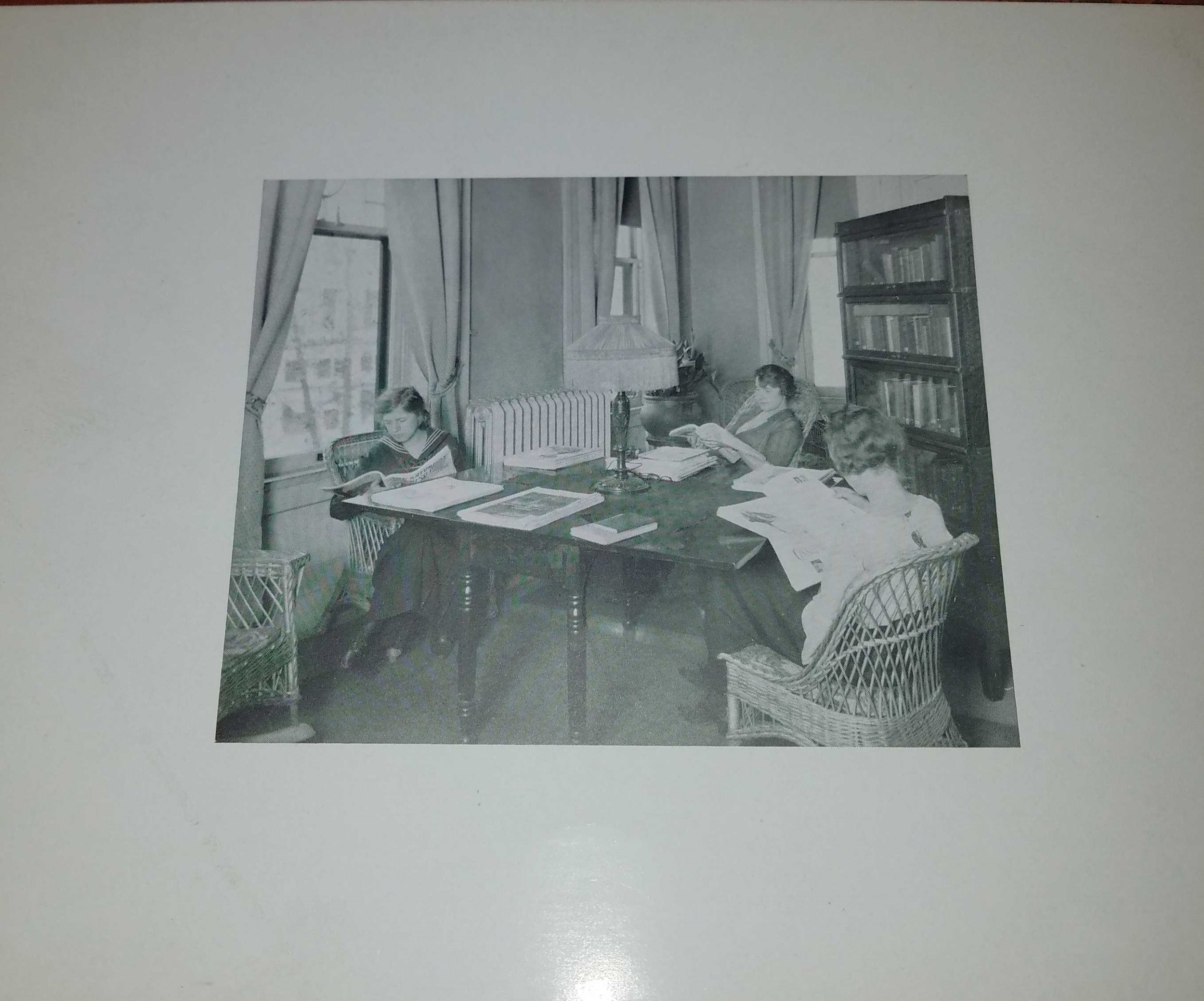 Reading Room at Young Woman's League. Photo courtesy of Wright State University Special Collections and Archives.