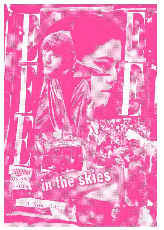 Mick Jagger & Selena Gomez, Pink risograph. 2015.