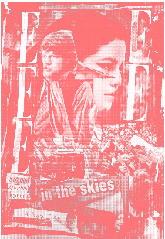 Mick Jagger & Selena Gomez, Peach risograph. 2015.