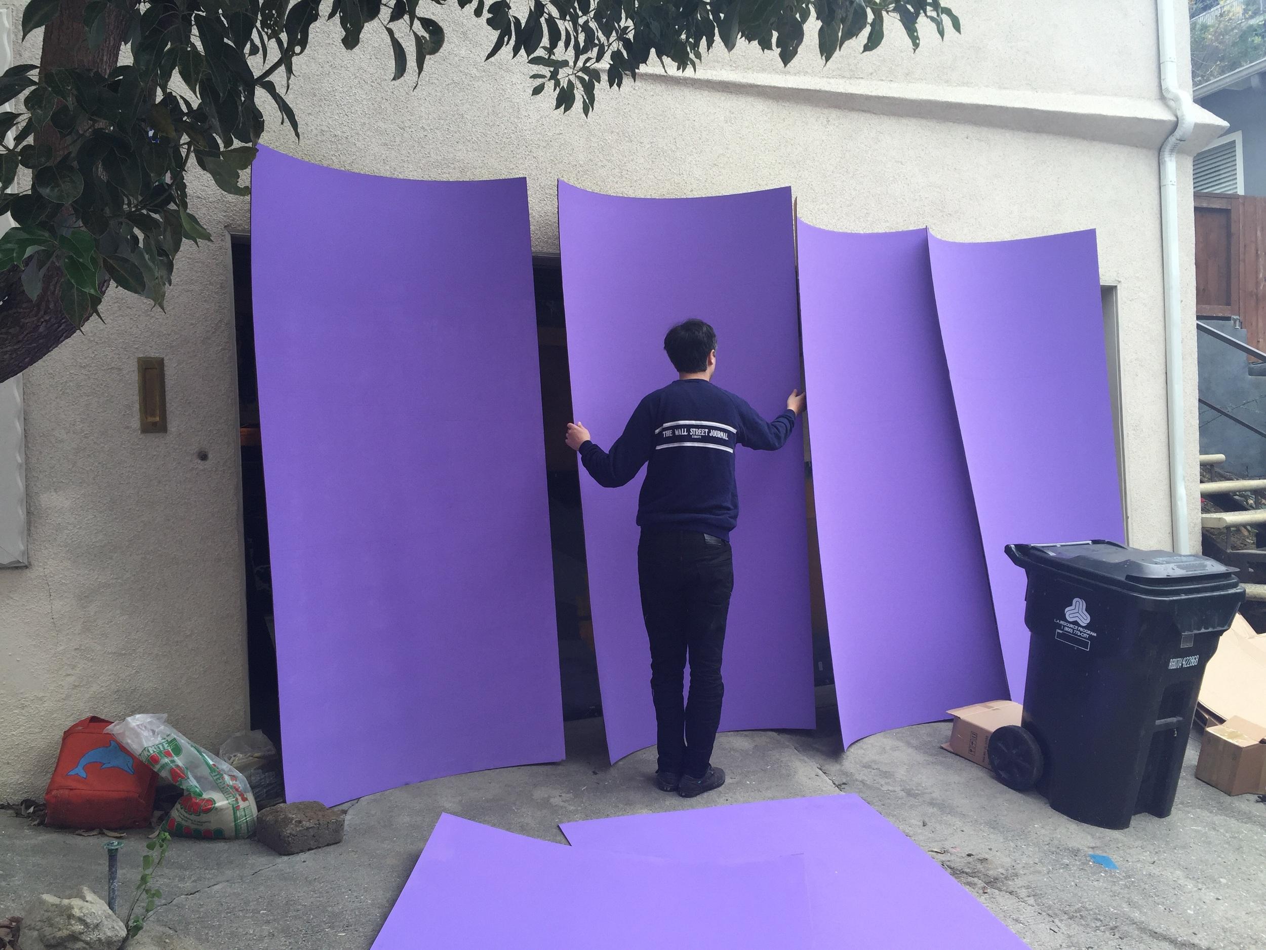 Purple walls, purple walls...