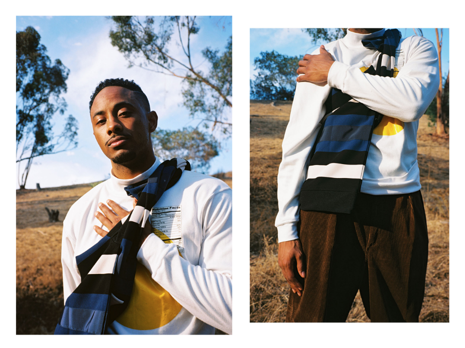 Sidizen King wearing our SunnySideUp mock nect sweater shot by  Alexandra Cabral  styling  Britt Layton  for Bullett magazine