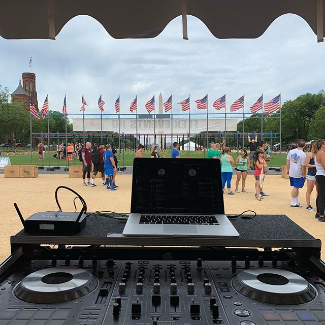 No rest just @flexhq.  Spinning beats on the national mall!